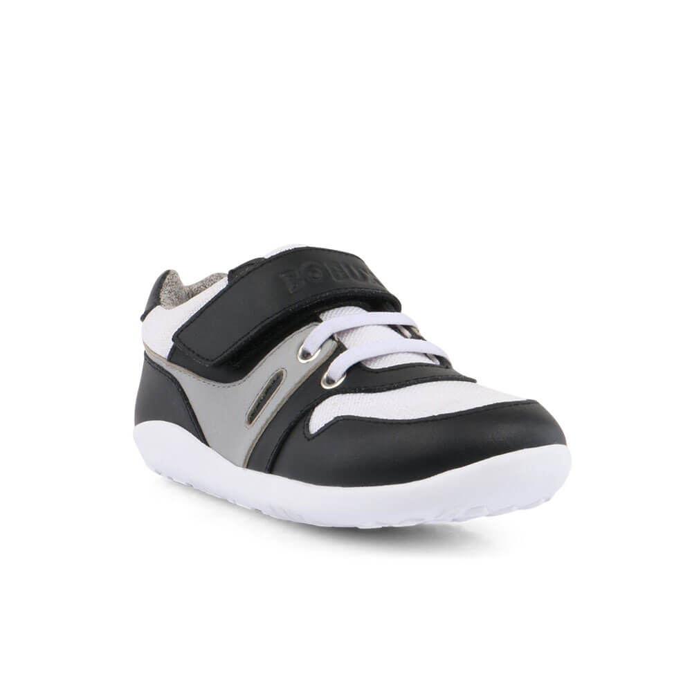 Bobux Tune Lo Top Sneaker - Black front right