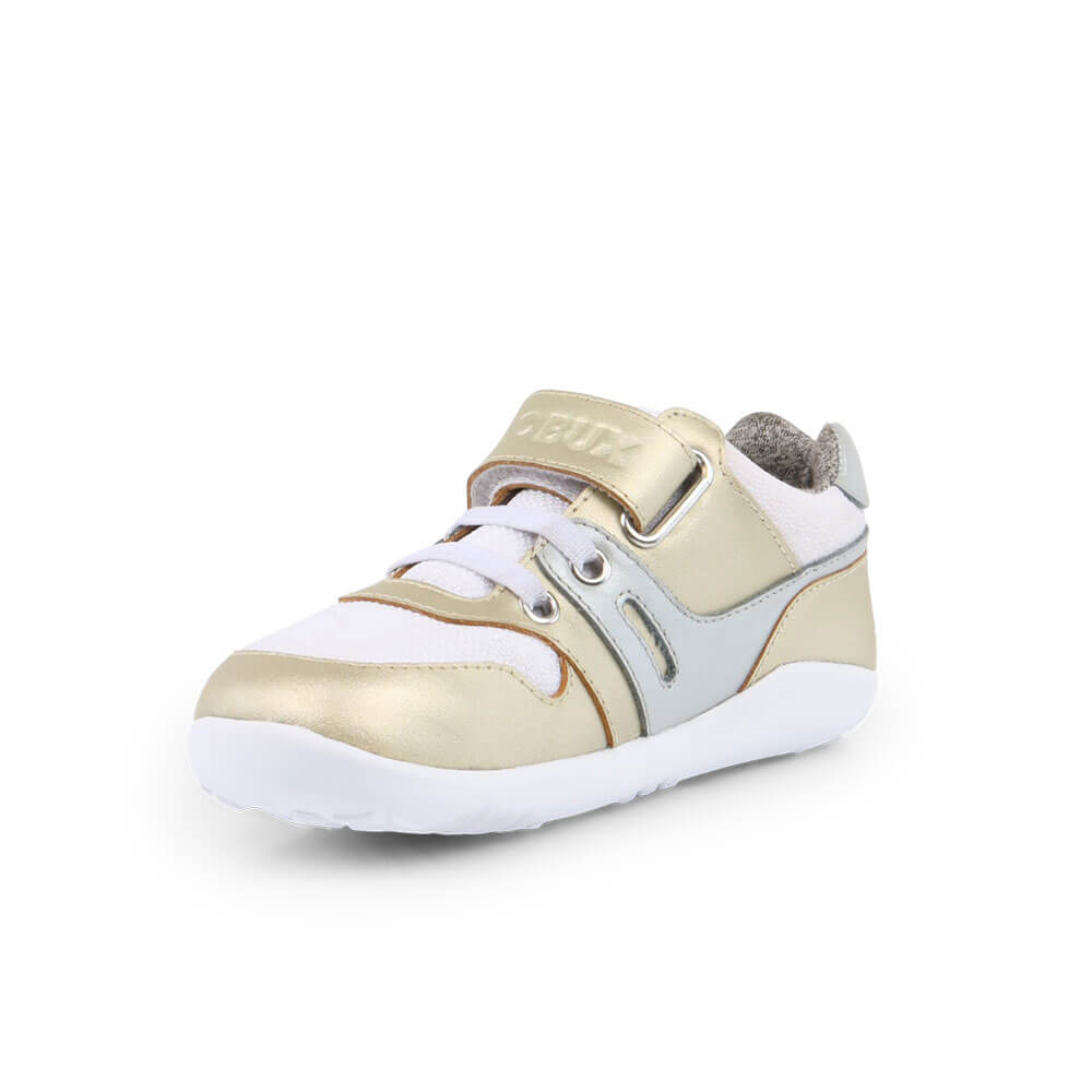 Bobux Tune Lo Top Sneaker - Gold front inside