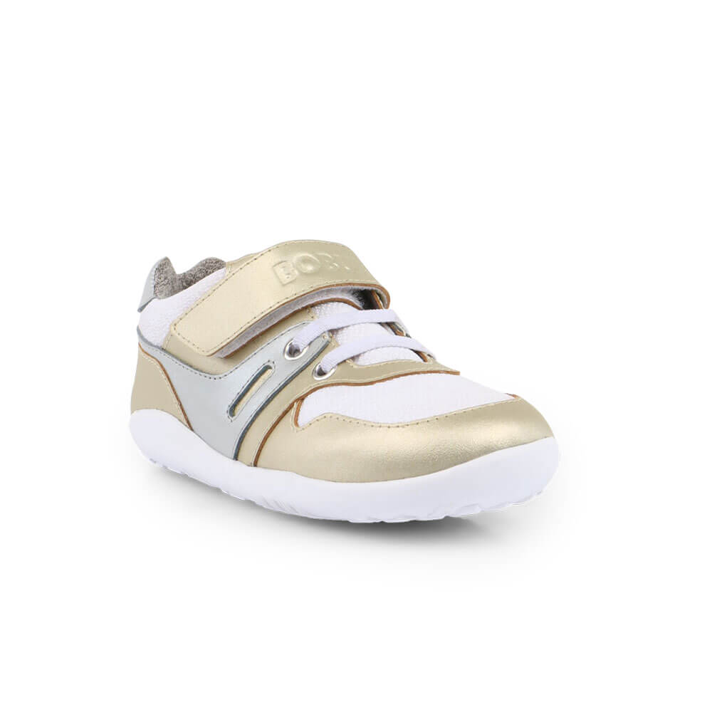 Bobux Tune Lo Top Sneaker - Gold front right
