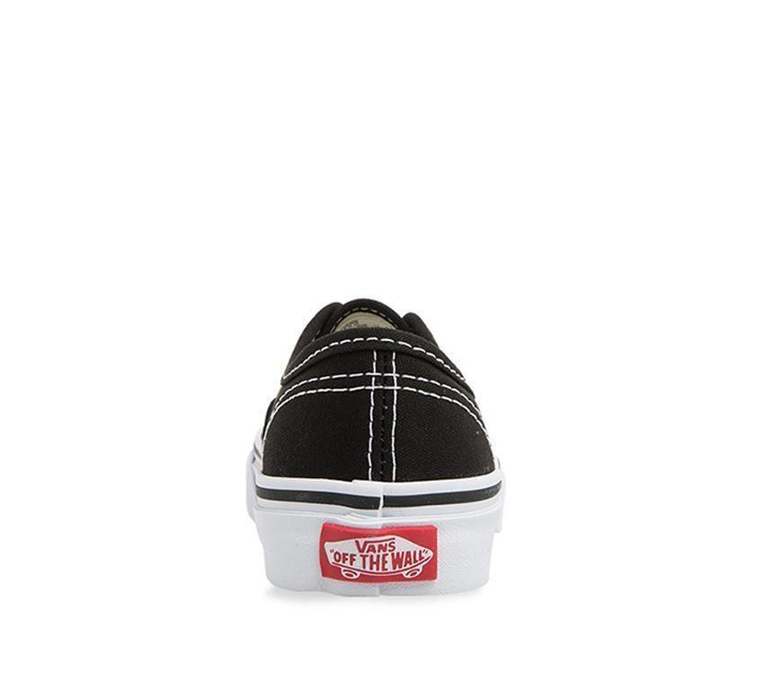 Vans Authentic kids Black/white from behind