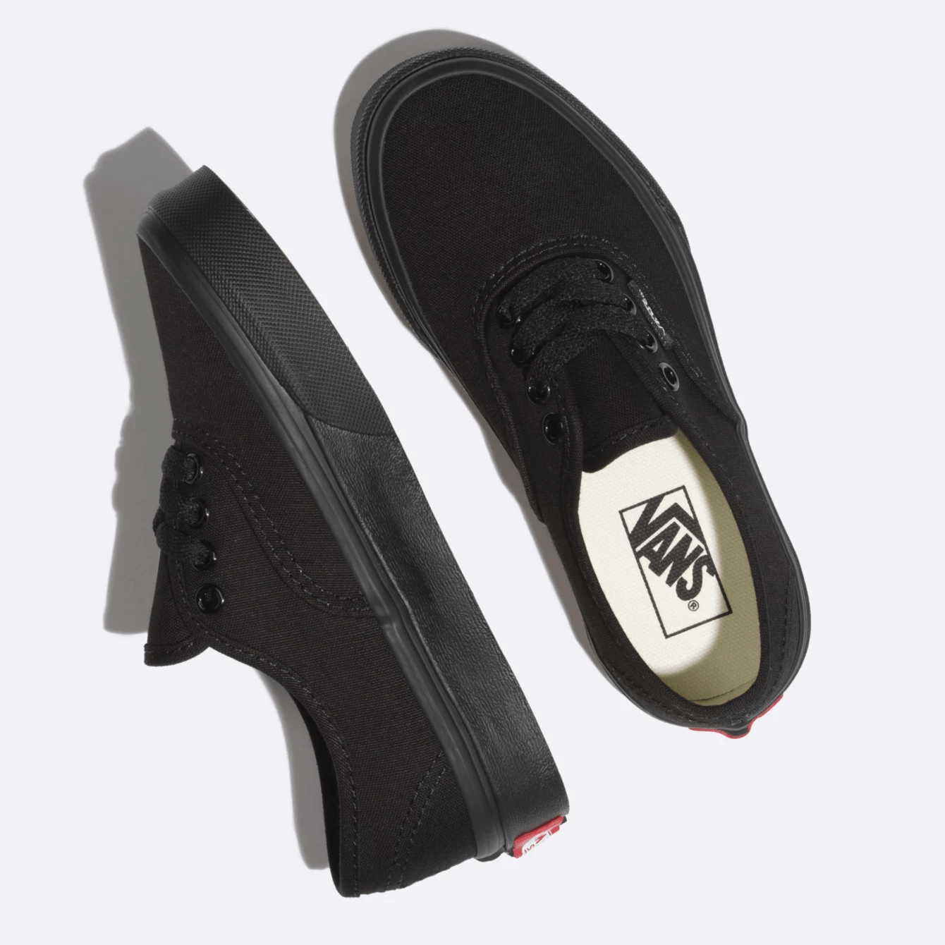 Vans Authentic kids Black/Black side view top view