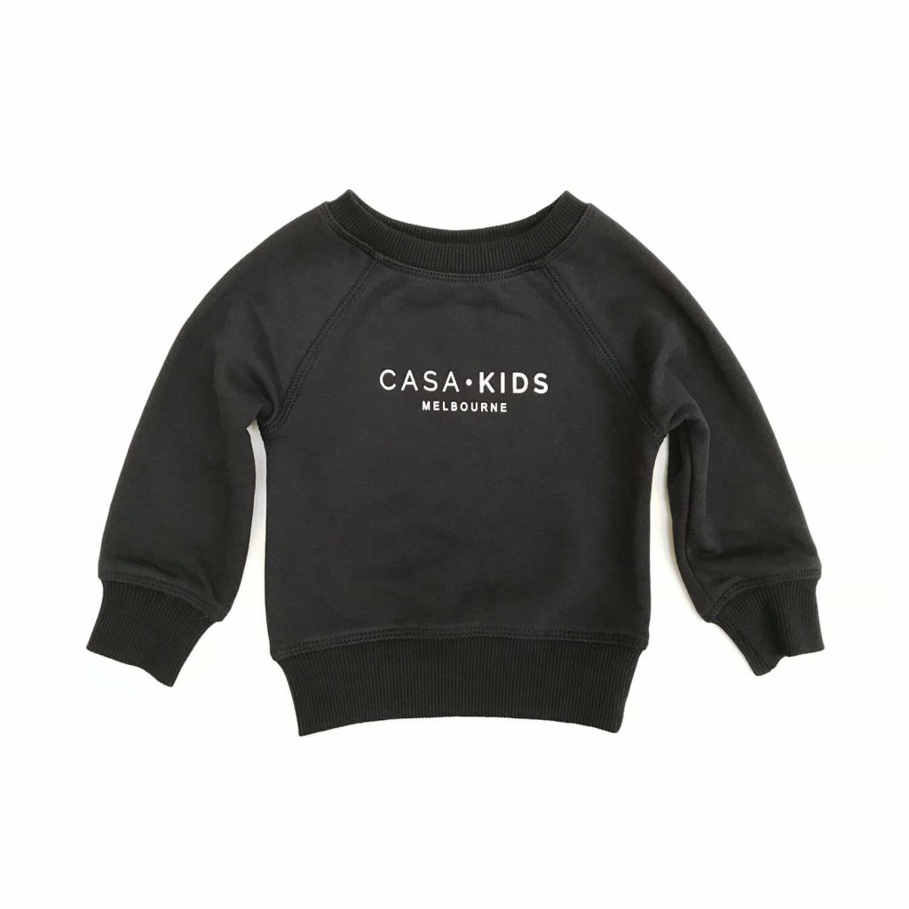 Casa Kids Black Baby Jumper Front