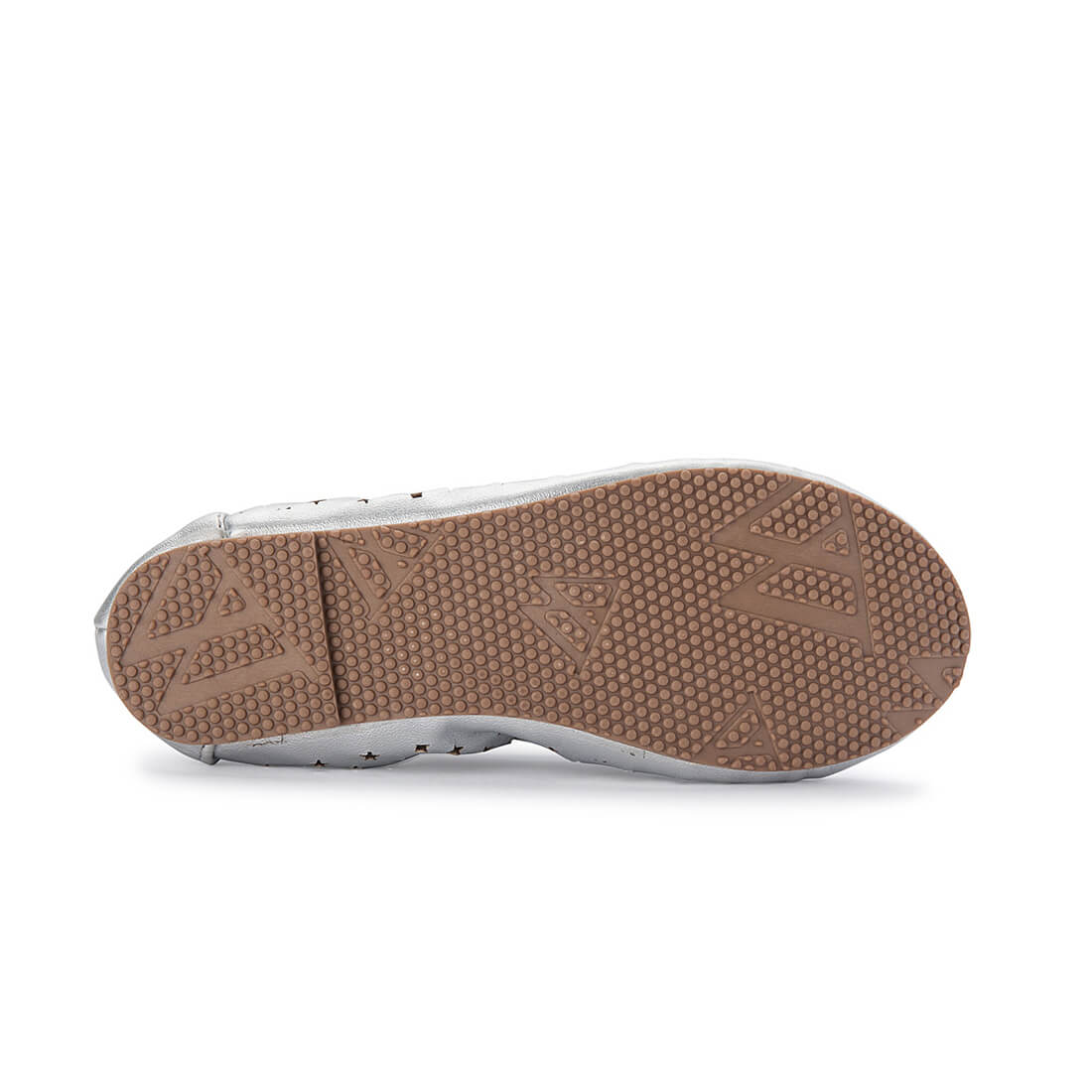 Walnut Catie Starlight Silver Girls Ballet Shoe sole