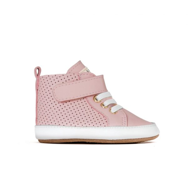 Pretty Brave Baby Shoes Hi Top Boot Cherub Side