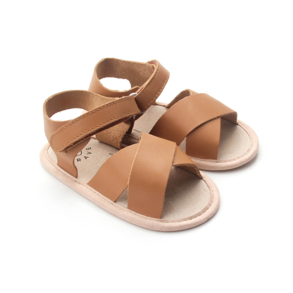 Pretty Brave Valencia Sandal – Chestnut side pair