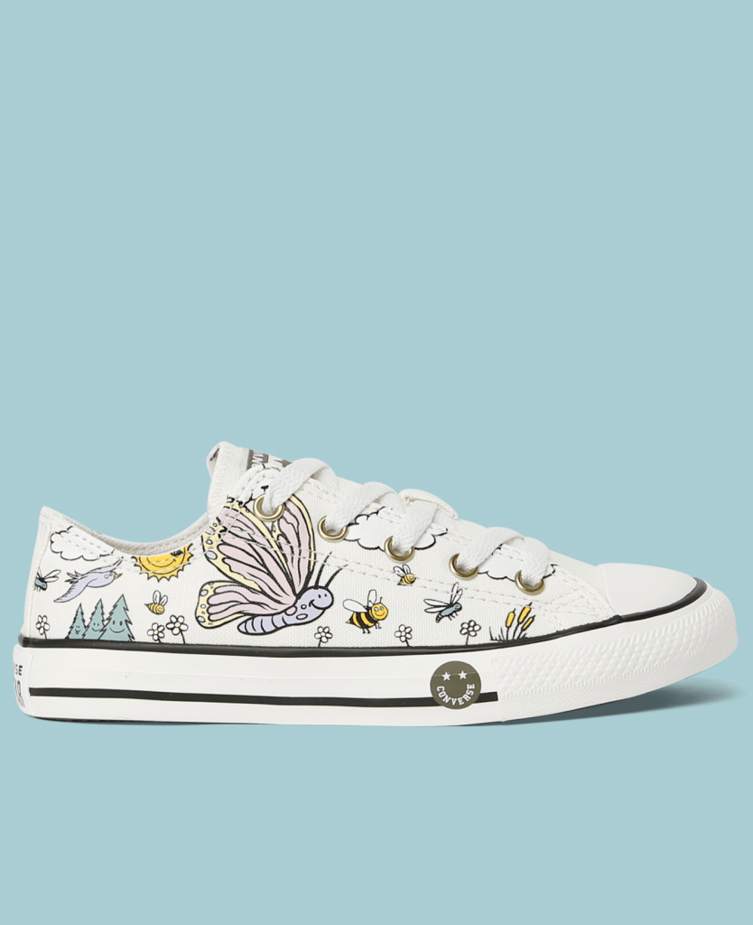 Chuck Taylor All Star Camp Converse Junior Low Top Vintage White