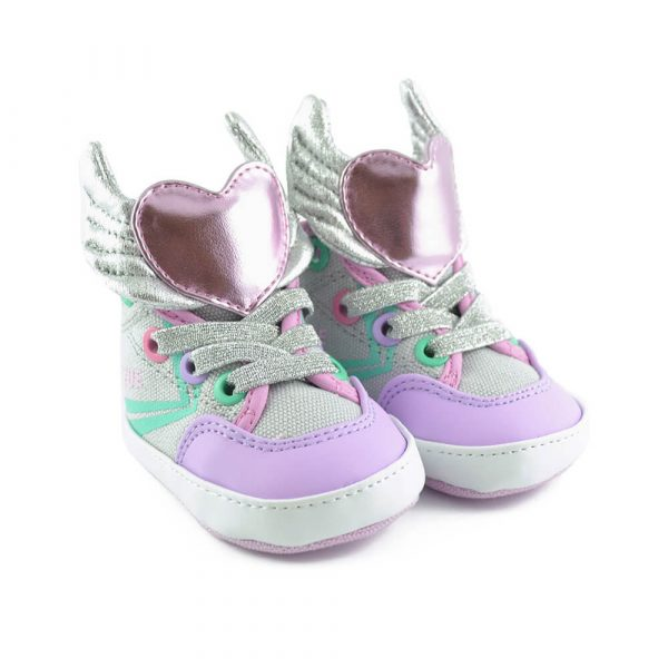 delta mid baby sneaker-wings pair