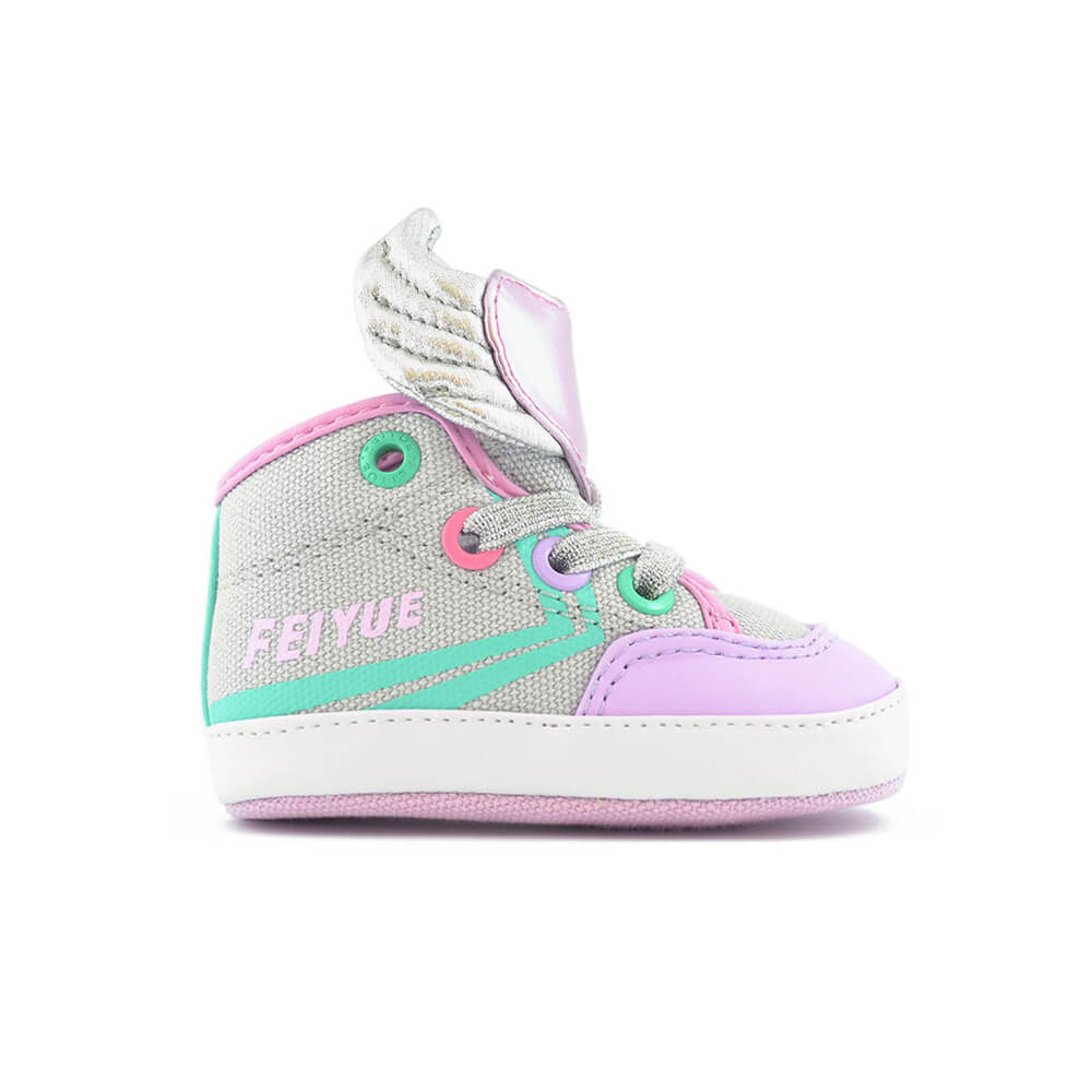 delta mid baby sneaker-wings side