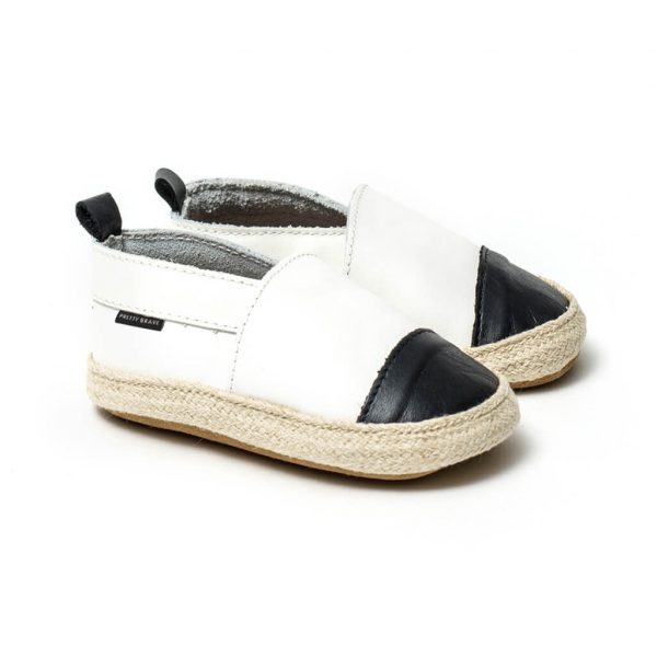 Pretty Brave Espadrille – White / Black side pair