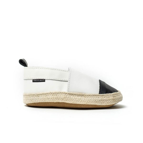Pretty Brave Espadrille – White / Black side