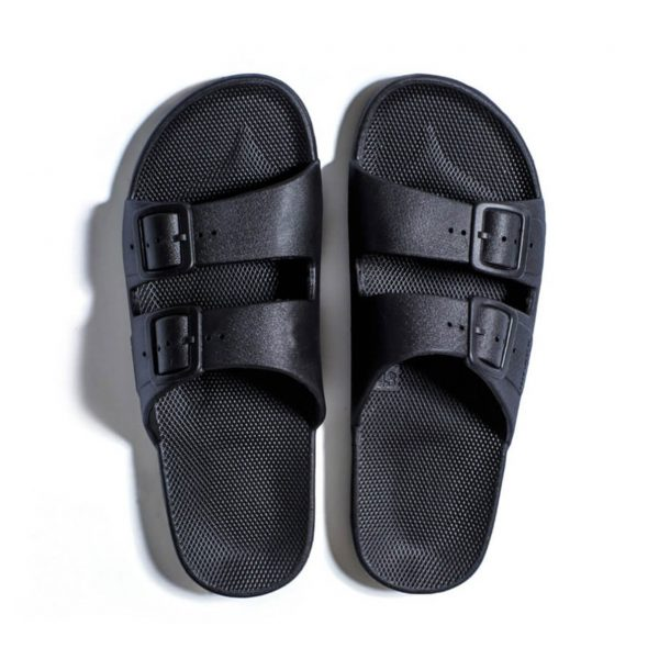 Freedom Moses Sandals Black Top