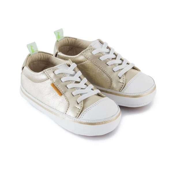 Tip Toey Joey Funky Sneaker - White/Silver angle