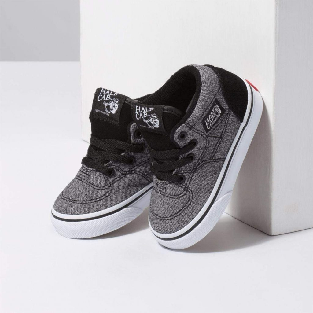 Vans Suede Half Cab with Suiting Black Lifestyle Shoes Perspective Image