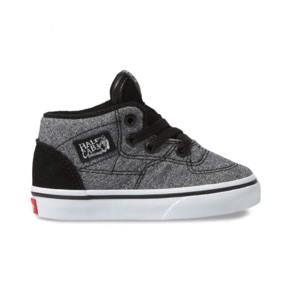 Vans Suede Half Cab with Suiting Black Lifestyle Shoes Side Image