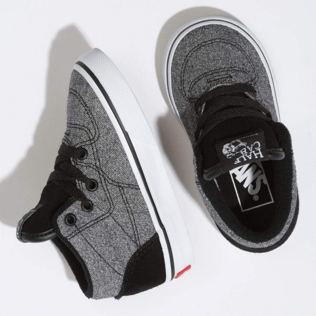 Vans Suede Half Cab with Suiting Black Lifestyle Shoes Top Image