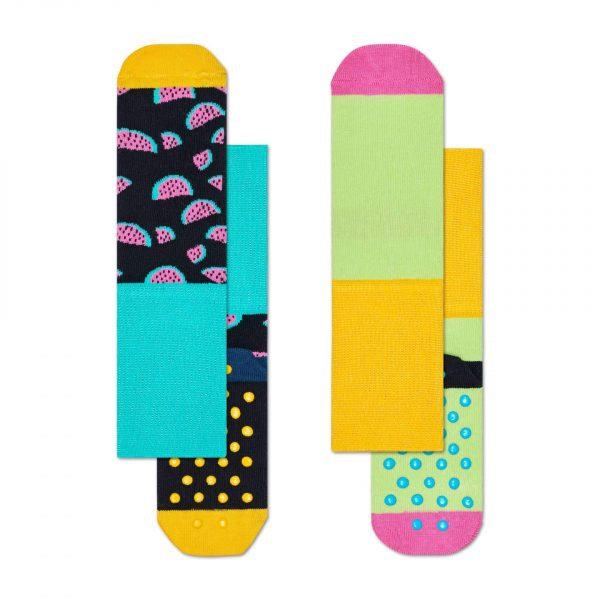 Happy Socks 2 pack watermelon anti slip socks