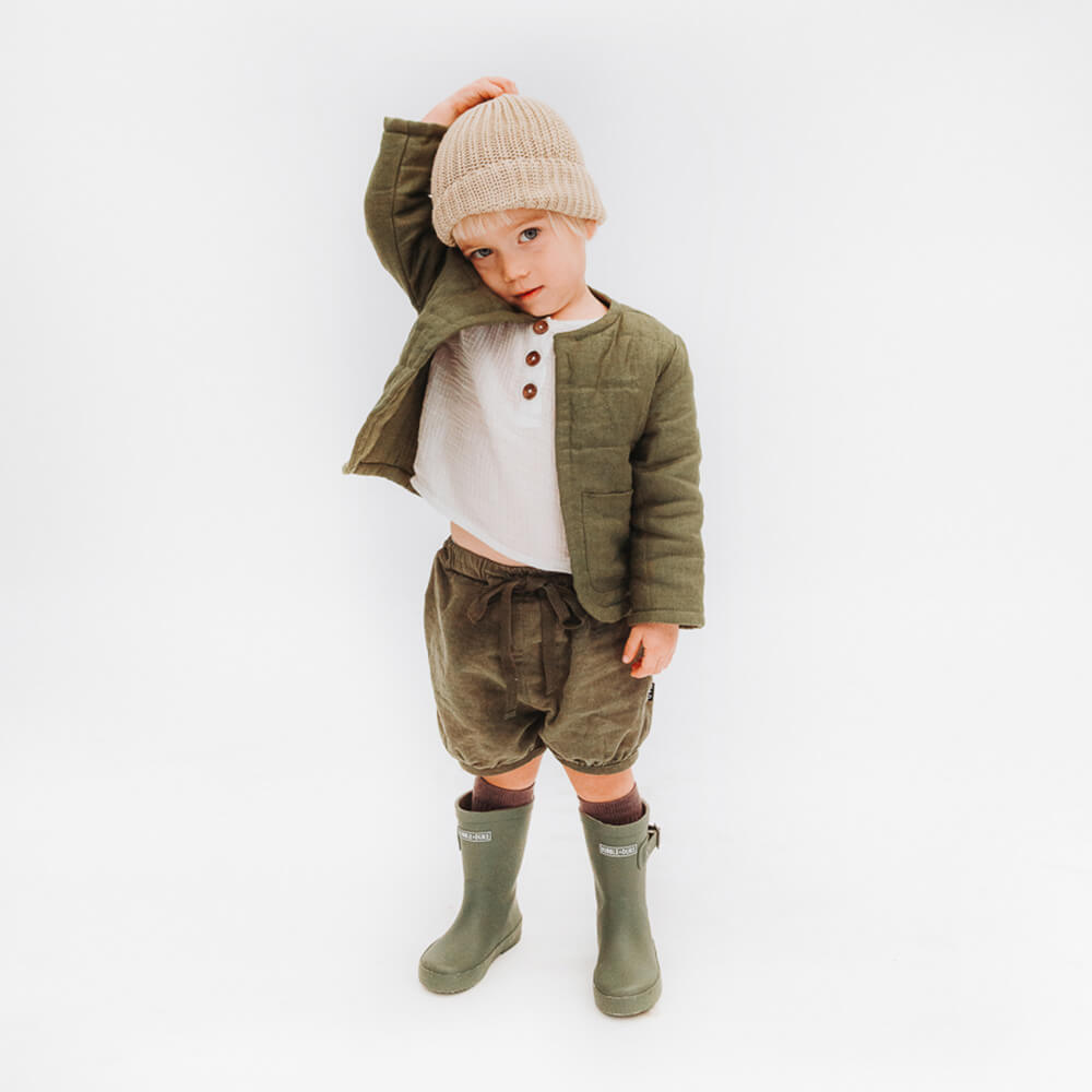 Hubble & Duke Gumboots Khaki kids boys boots