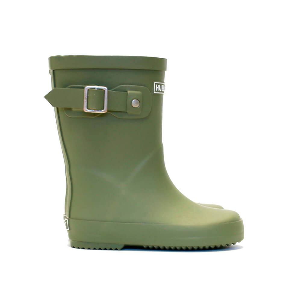 Hubble & Duke Gumboots Khaki Side