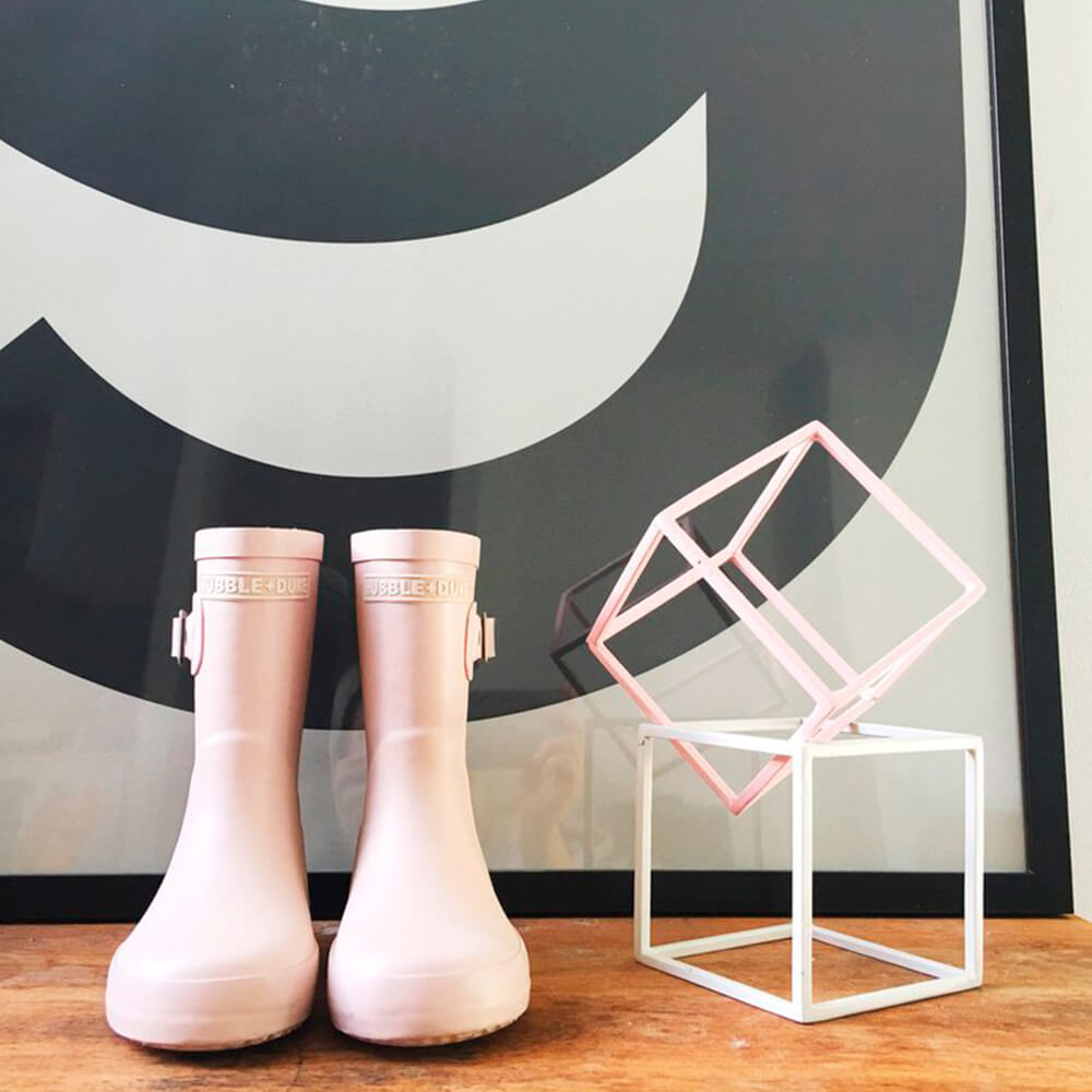 Hubble & Duke Gumboots Powder Pink lifestyle