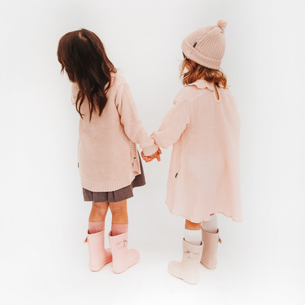 Hubble & Duke Gumboots Powder Pink girls gumboots winter