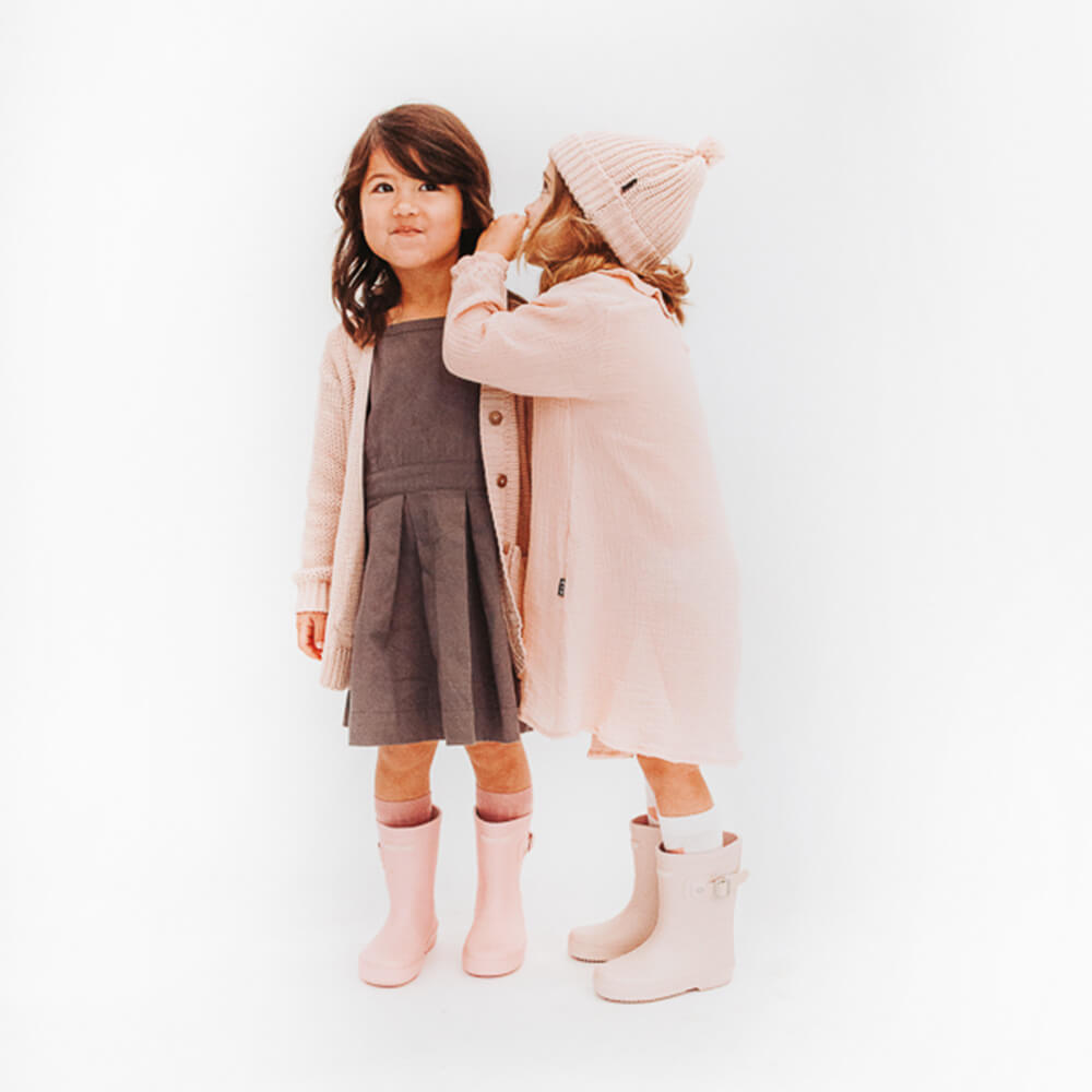 Hubble & Duke Gumboots Powder Pink rain boots girls