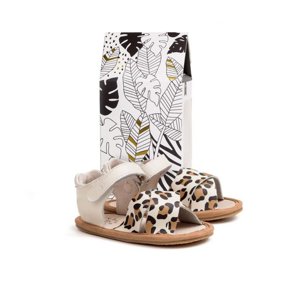 Pretty Brave Sandals for Kids - Valencia Cheetah | Camino Kids AU