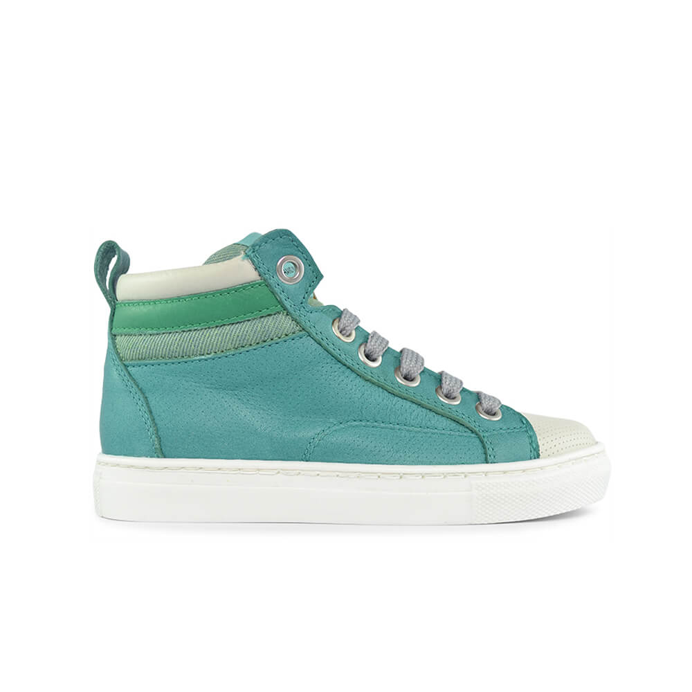 Bauta Green Laceup Sneaker side