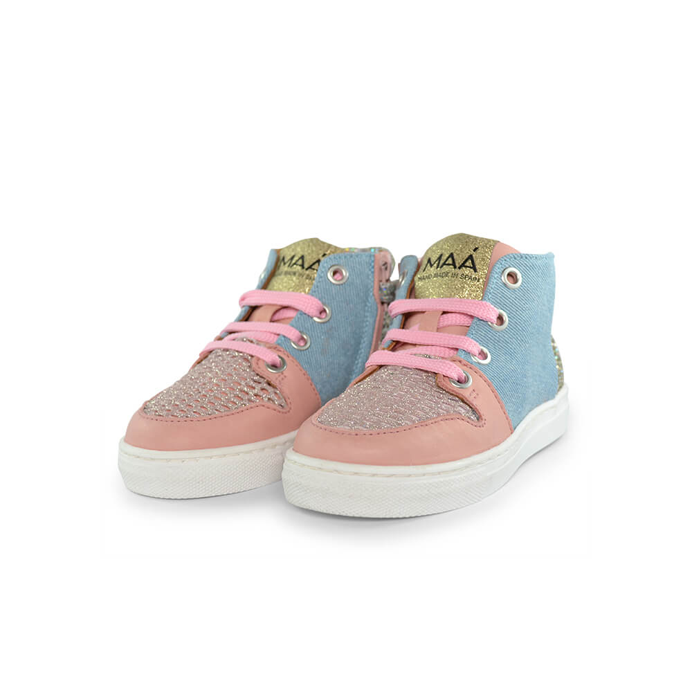 Jaruco Light Pink/Denim Sneaker front pair