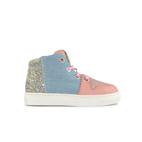 Jaruco Light Pink/Denim Sneaker side