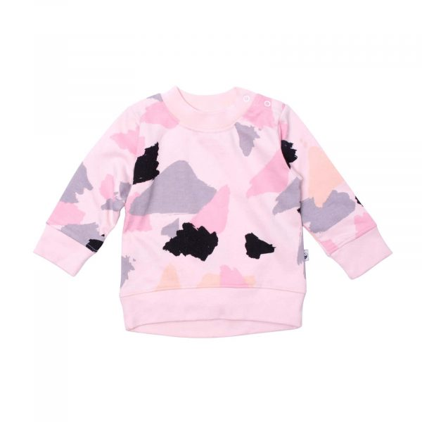 Milk and Masuki Baby Long Sleeve Body Jumper Colourdrift