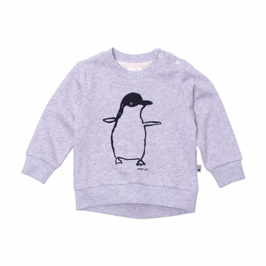 Milk and Masuki Baby Long Sleeve Body Jumper Penguin