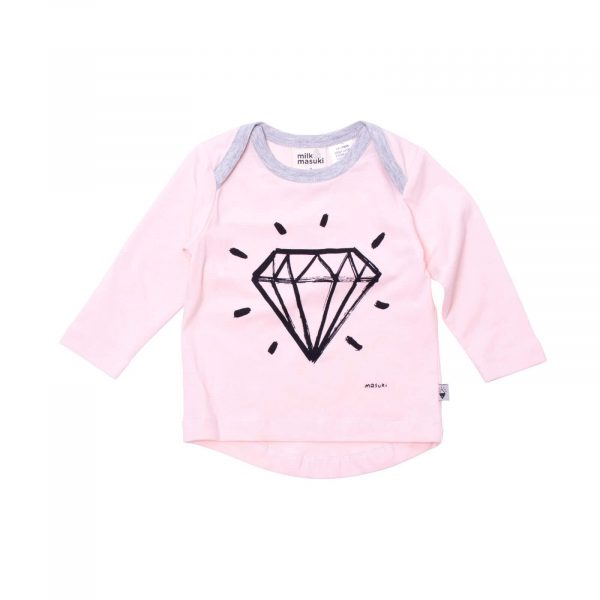 Milk and Masuki Baby Long Sleeve Tee Diamond