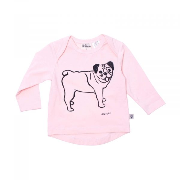 Milk and Masuki Baby Long Sleeve Tee Pugs