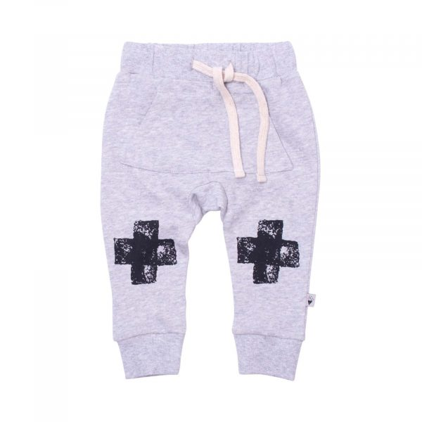 Milk and Masuki Baby Trackies Black Knee Cross