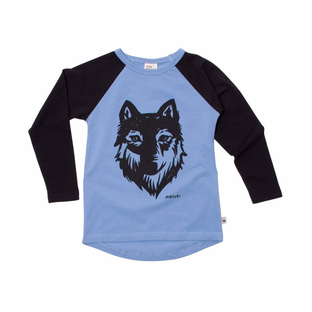 Milk and Masuki Longsleeve Raglan Wolf