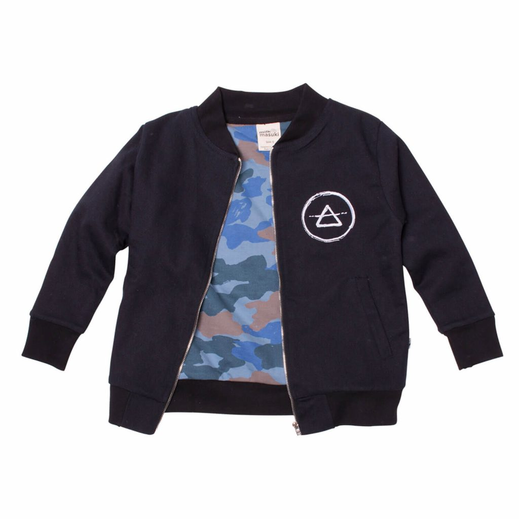 Milk and Masuki Twill Bomber Jacket Mountain Front