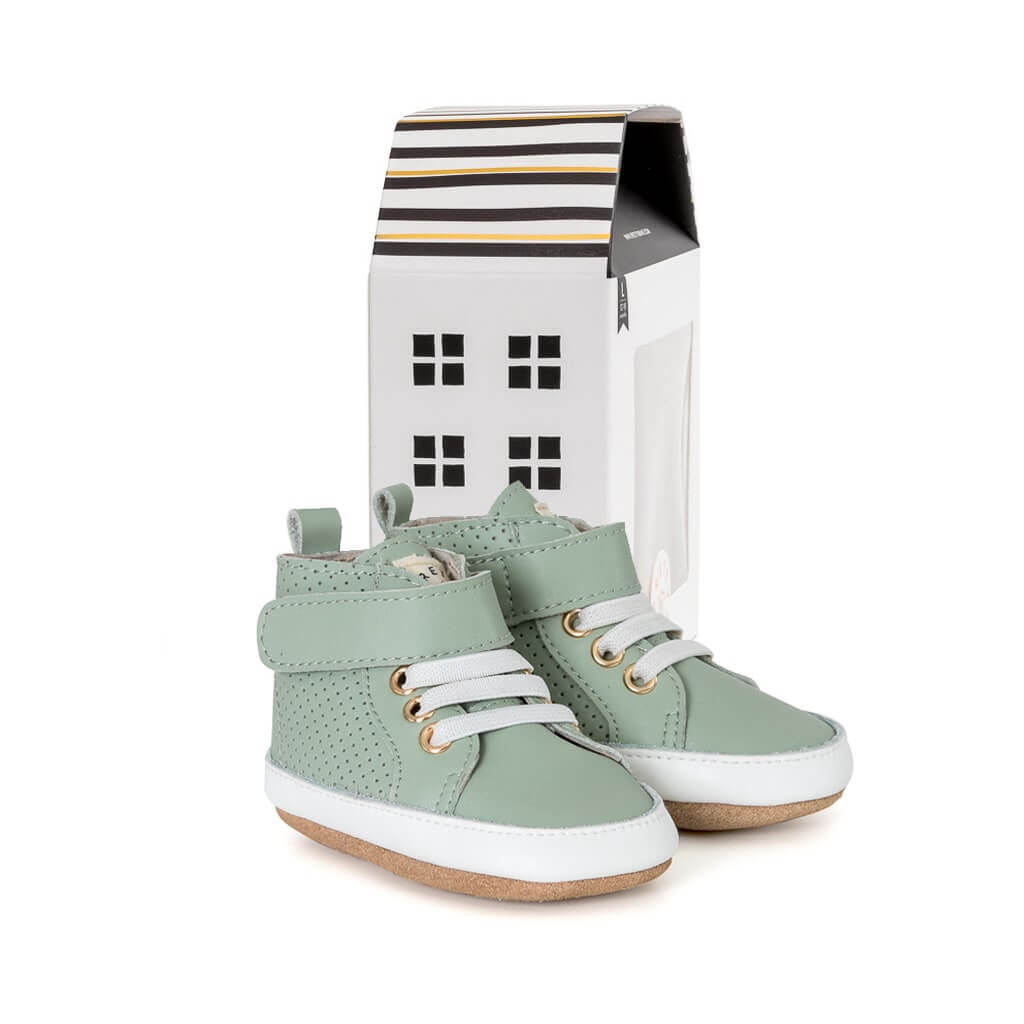 Pretty Brave Baby Shoes Hi Top Boot Moss House