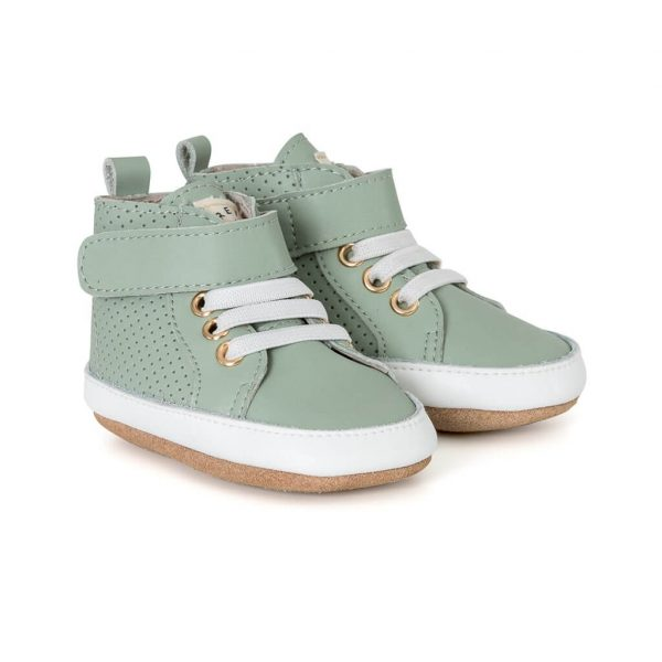 Pretty Brave Baby Shoes Hi Top Boot Moss Angle