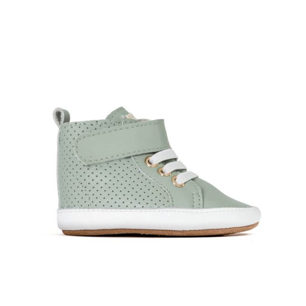 Pretty Brave Baby Shoes Hi Top Boot Moss Side