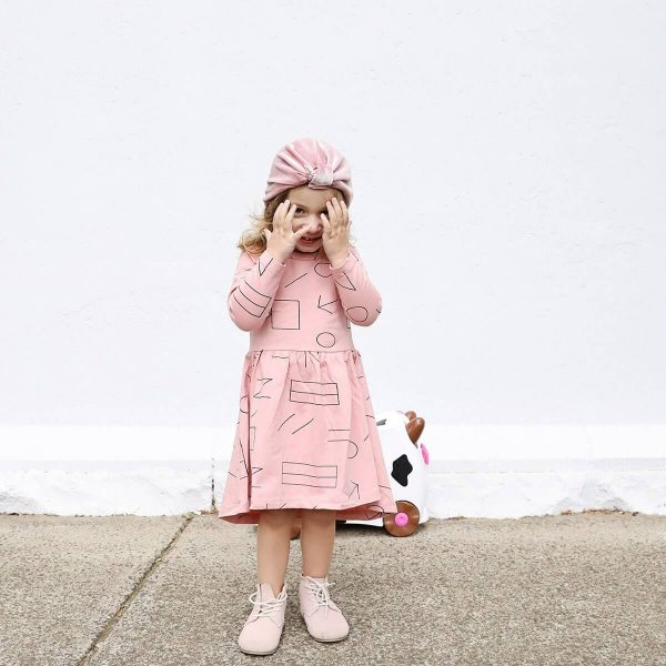 Neon Kite Kids Pink Melon Dress