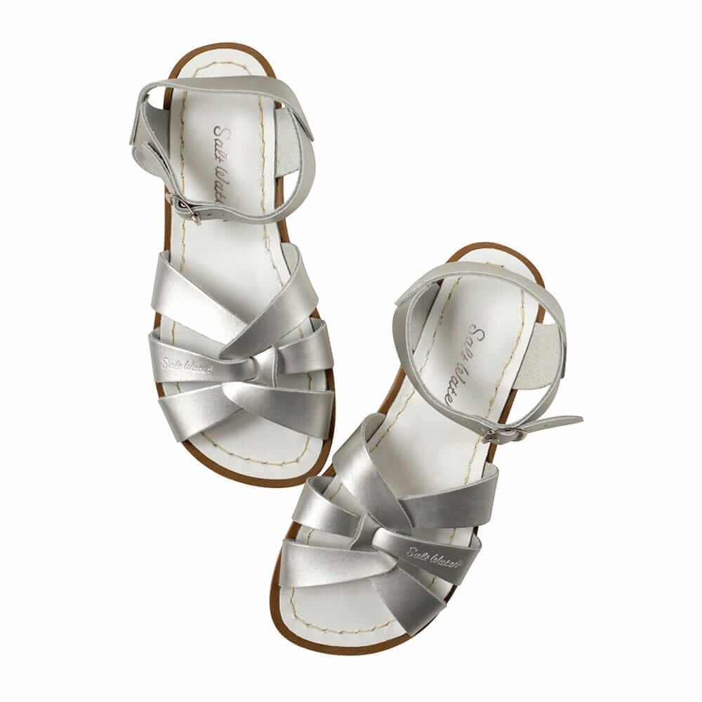 Original Saltwater Sandals – Silver Top Angle