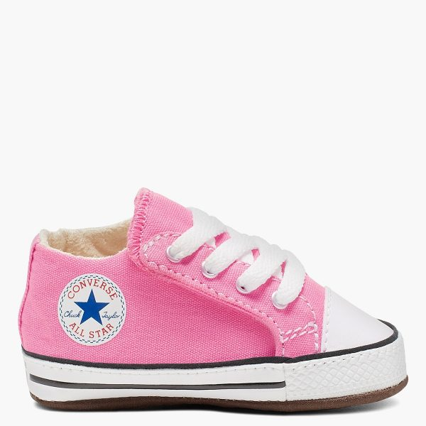 pink all star side sneaker
