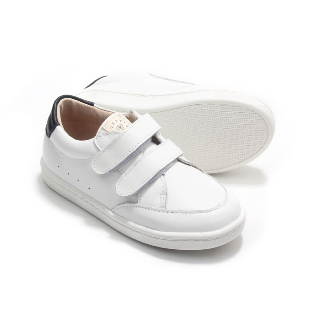 Pretty Brave White Sneakers – XO Trainer pair angle
