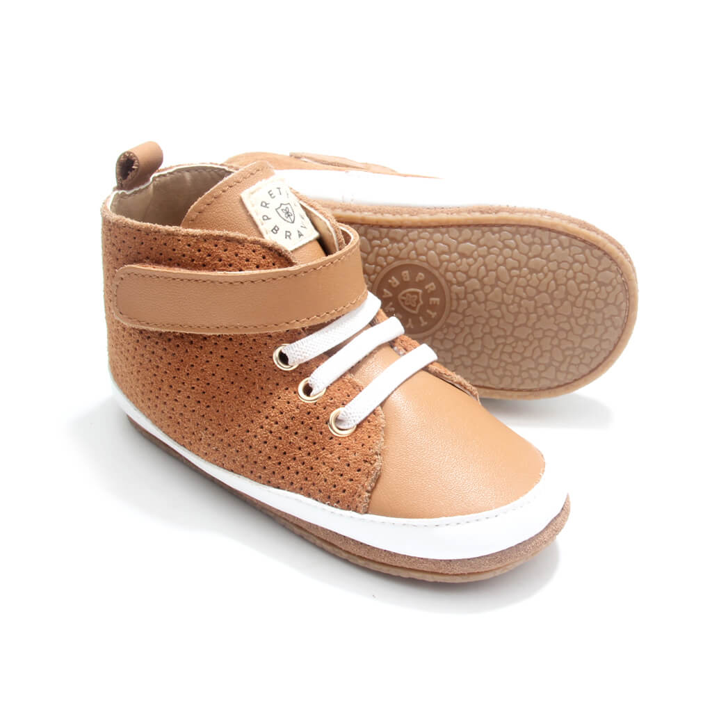 Pretty Brave Hi-Top Boot – Cinnamon pair angle