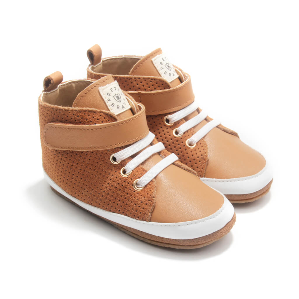 Pretty Brave Hi-Top Boot – Cinnamon side pair