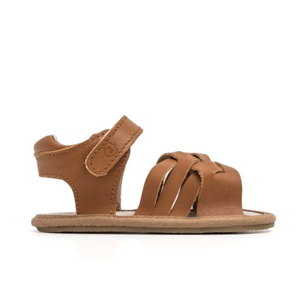 Pretty Brave Summer Sandal Woven Brown Side