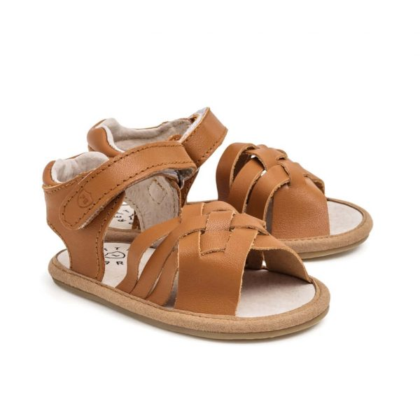 Pretty Brave Summer Sandal Woven Brown Angle