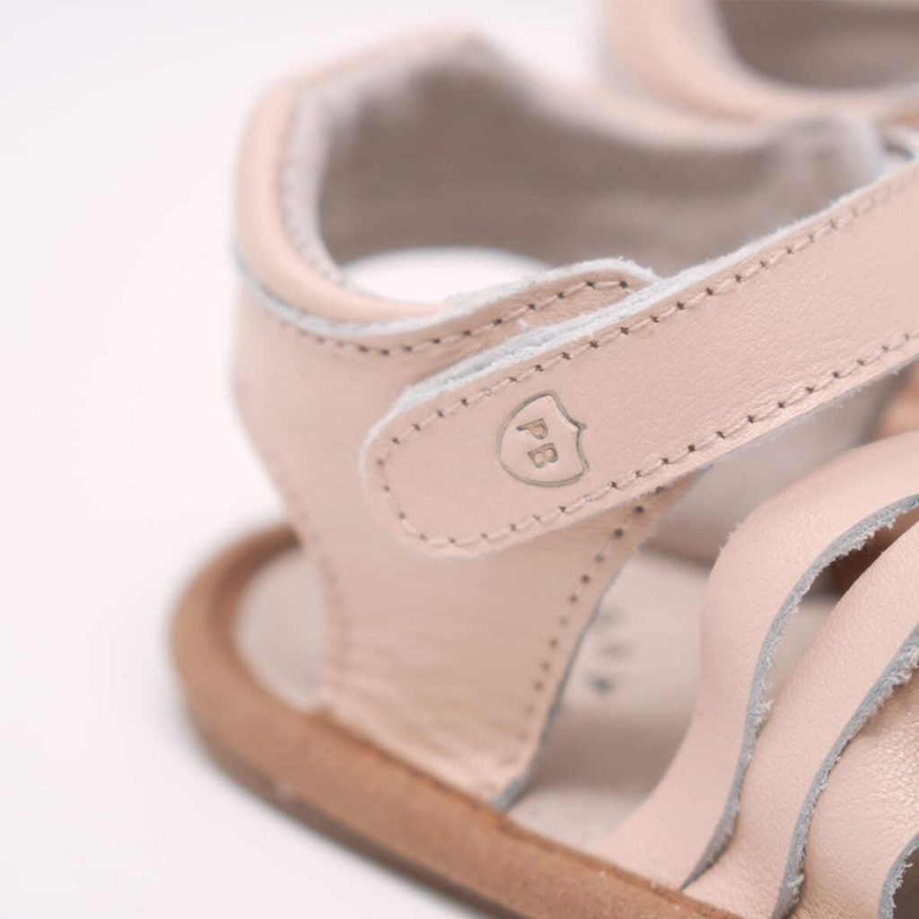 Pretty Brave Summer Sandal Woven Pink Close Up
