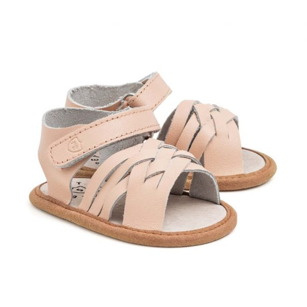 Pretty Brave Summer Sandal Woven Pink Angle