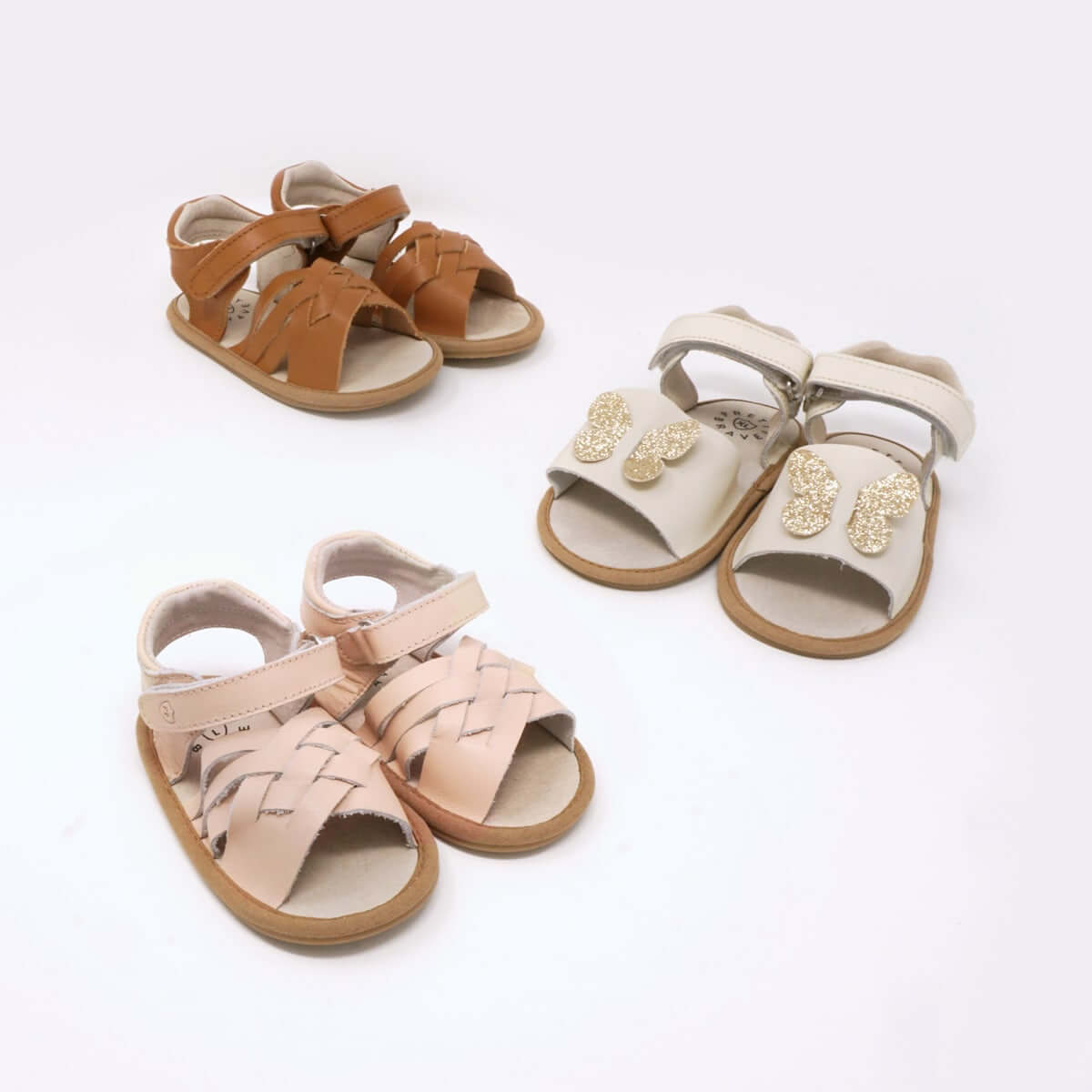 Pretty Brave Summer Sandal Woven Pink Three Up